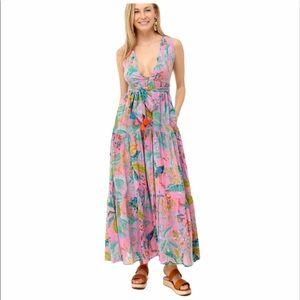 Banjanan Carlota Maxi Dress pink